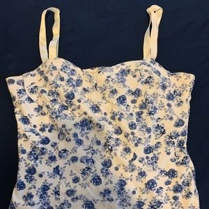 Divided Floral Crop Top